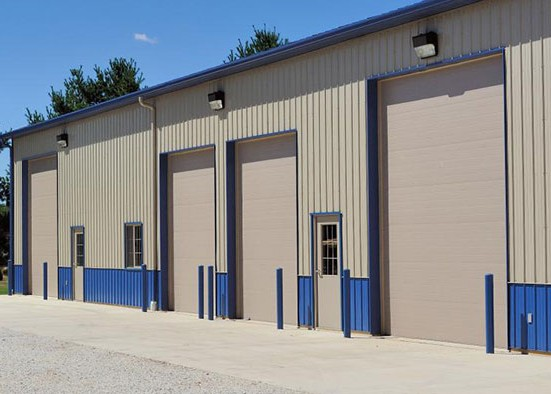 Commercial steel garage doors
