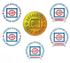 The 5 different IDEA Certifications and the Accredited Door Dealer Certification