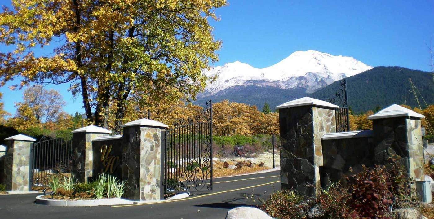 Gate Access System with mountain background