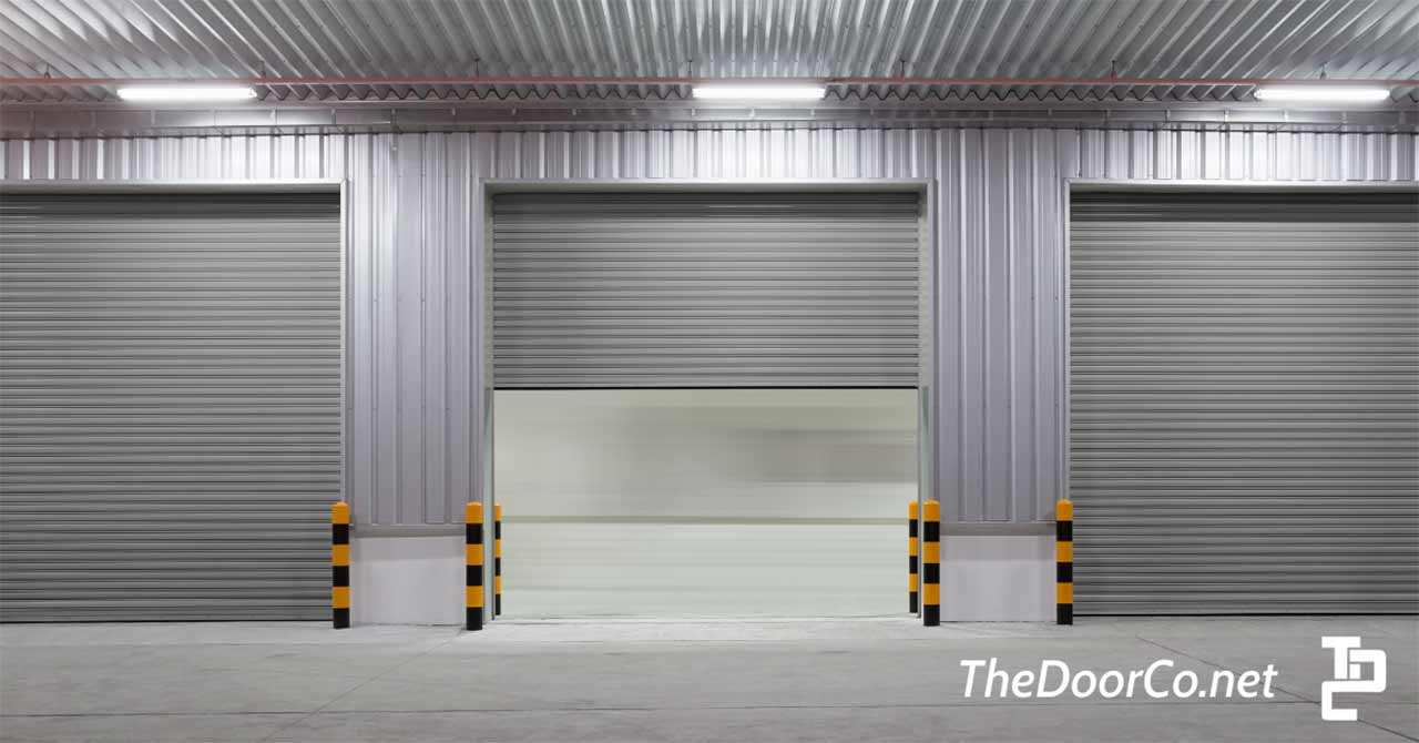 Image of two commercial garage doors.