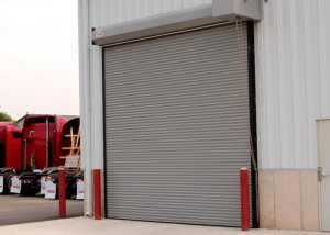 coiling door at a business facility