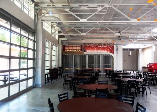 Image of: Commercial Garage Door Restaurant In Sectional Aluminum Garage Doors The Door Company