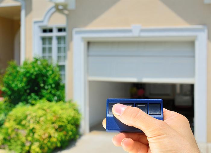 A remote garage door opener